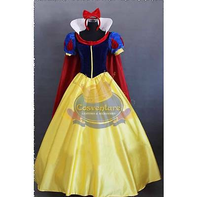 Custom Made Snow White Costume Dress  Disney Snow White and the 7 Dwarfs Cosplay (7 Dwarfs Costumes)