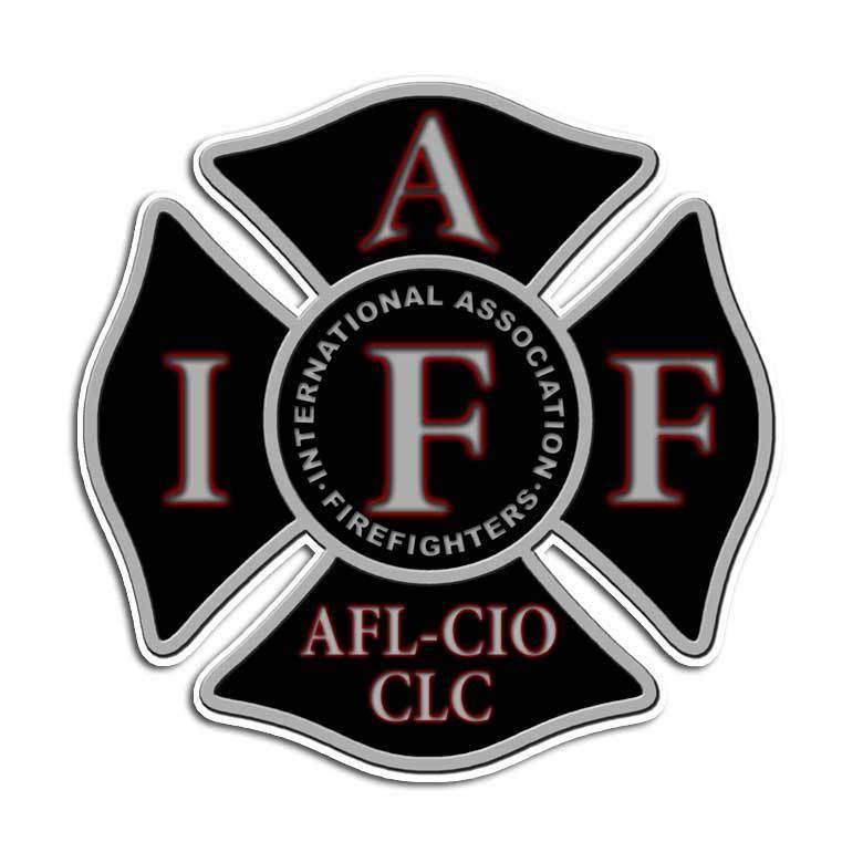 2 pack Black Firefighter Maltese Cross Sticker - IAFF Fire Truck Decal Fireman