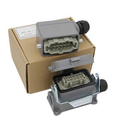 Set Hdc-he-010 He-010m He-010f 10-pin Heavy Duty Connector Side Single-lock 10a