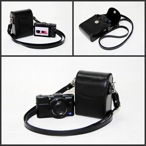 Leather Camera case bag for Canon SX710 SX720 G7X Mark II, G7X, G7 X MII Black
