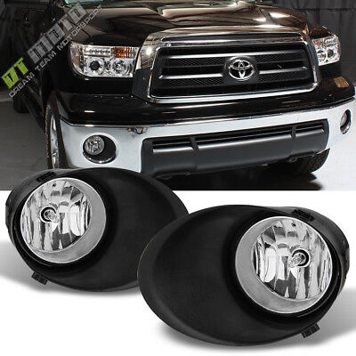 2007-2013 Toyota Tundra 08-11 Sequoia Bumper Fog Lights+Switch+Covers Left+Right