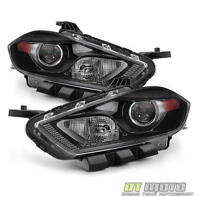 2013-2016 Dodge Dart Halogen Headlights Headlamps 13-16 Replacement Left+Right