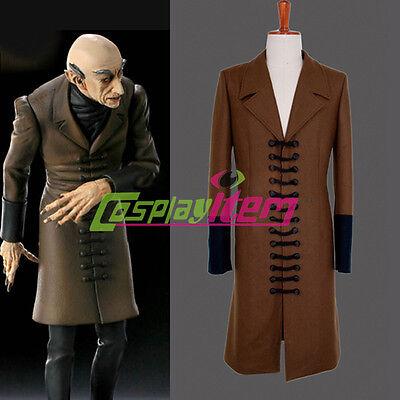 Nosferatu Phantom of the Night Cosplay Jacket Adult Men's Halloween Costume (Nosferatu Costume)