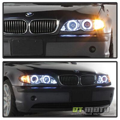 2002 2003 2004 2005 BMW E46 4DR Sedan Halo Projector Headlights w/ Corner Lamps Bmw E46 Halo Projector Headlights