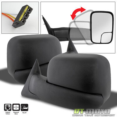 Left+Right 1994-1997 Dodge Ram 1500 2500 Extend Flip Up POWER Side Tow Mirrors
