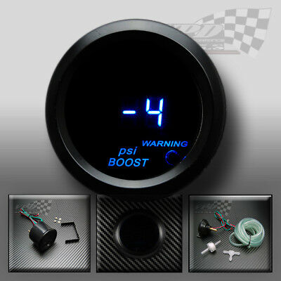 Boost turbo gauge 52mm Digital blue led smoked dial face PSI interior dash pod