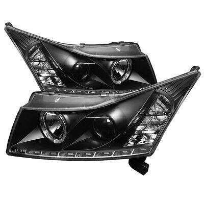 Chevy 11-14 Cruze Schwarz One Halo DRL LED Scheinwerfer Projektor Eco Ls Lt Ltz