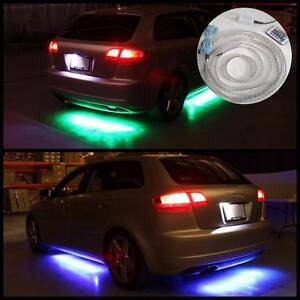 4pcs LED Underbody multi-color RGB flash LED light strips with remote control
