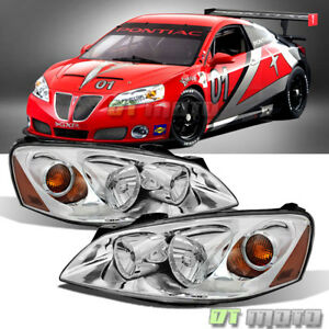 2005 2010 Pontiac G6 Headlights Headlamps Replacement 05 10 Pair Set Left Right