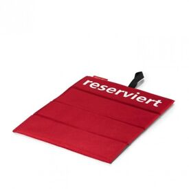 Reisenthel Reserved Cushion Seat Red - Outdoor Garden Camping Seatpad Football Stadium