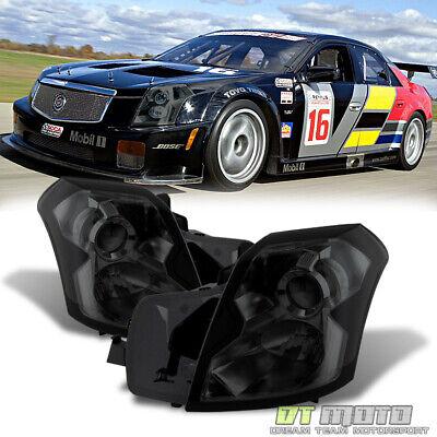 Smoked 2003-2007 Cadillac CTS Headlights Headlamps Left+Right Set 03 04 05 06 07