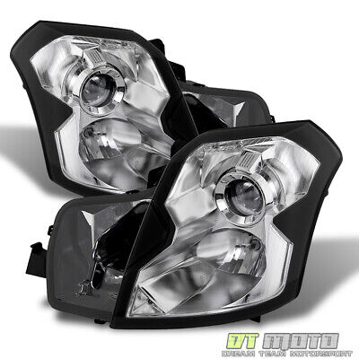 Fits 03-07 Cadillac Cts Replacement Projector Headlights Headlamp Pair Set Lh+Rh