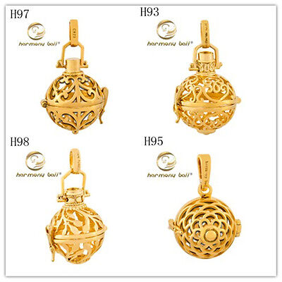 (Angel Caller 18K Yellow Gold Filled Harmony Ball Chime Sound Pendant Locket Gift)