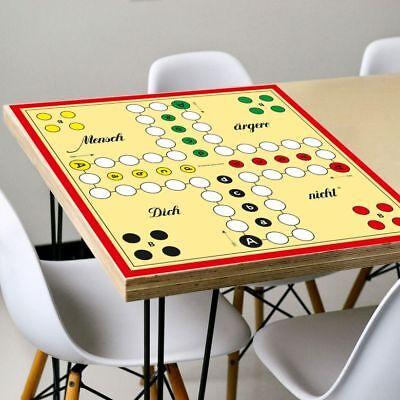 e 60 x 60 Mensch ärgere dich nicht Möbelfolie Spiel Kinder (Dekorative Tisch)