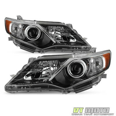 For 2012 2014 Toyota Camry SE Style Projector blk Headlights lamps LeftRight