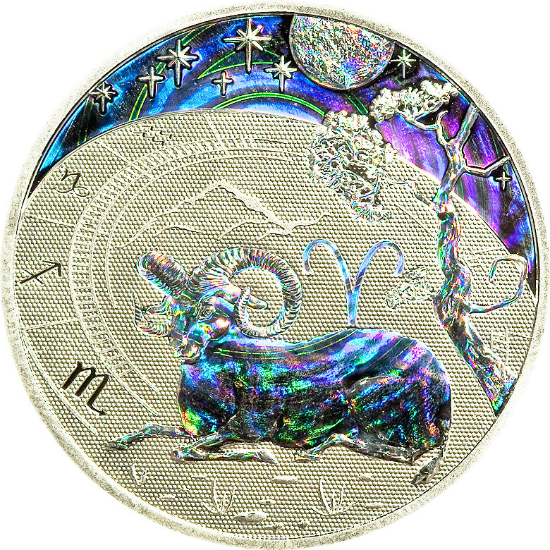 Cameroon 2010 Zodiac Aries 500 Francs Silver Coin,Proof