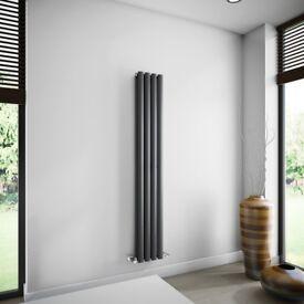 Milano Anthracite Space-Saving Vertical Designer Radiator 1600mm x 236mm. (Single Panel) price £70