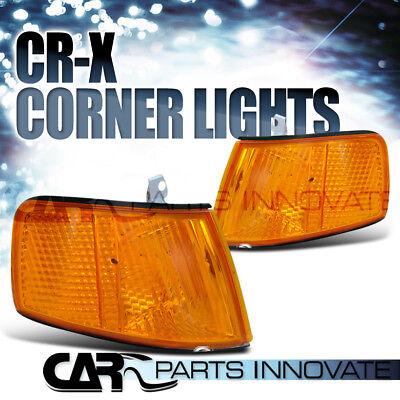 For 90-91 Honda CRX JDM Amber Signal Corner Lights Lamp w/ One Bulb Slot Only