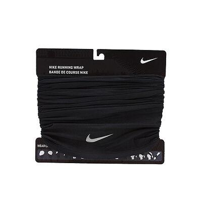 Nike Running Wrap Neck Warmer Beanie Scarf Shawl Mask OSFM Black AC3602-001