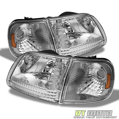 [4PC] 1997-2003 Ford F150 Expedition Headlights+Corner Signal Lamps Left+Right 02 Ford Expedition Corner