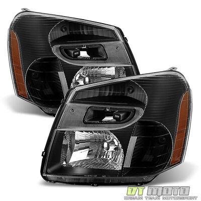 - Black 2005 2006 2007 2008 2009 Chevy Equinox SUV Headlights Headlamps Left+Right