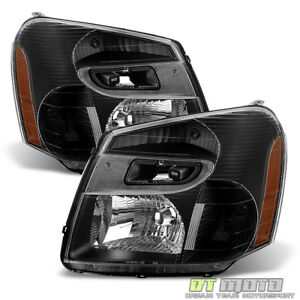 Black 2005 2006 2007 2008 2009 Chevy Equinox SUV Headlights Headlamps Left+Right