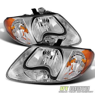 2001-2007 Dodge Caravan Town & Country 01-03 Voyager Headlights Headlamps Pair