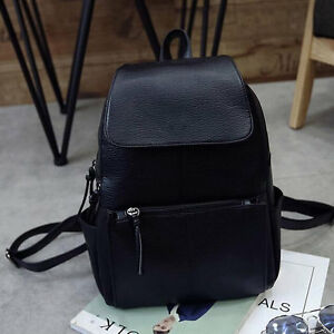 Women Korean Style PU Leather Backpack Shoulder School Bag Trend Of College M7