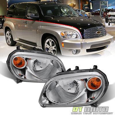 2006-2011 Chevy HHR Headlights Headlamps Replacement 06-11 Pair Set (2008 Chevrolet Hhr Replacement)