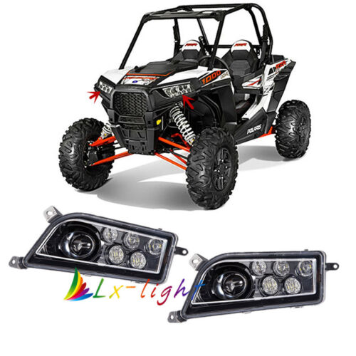 Auto Accessories ATV LED CREE Headlight kit Headlamp for Polaris RZR 900 XP 1000