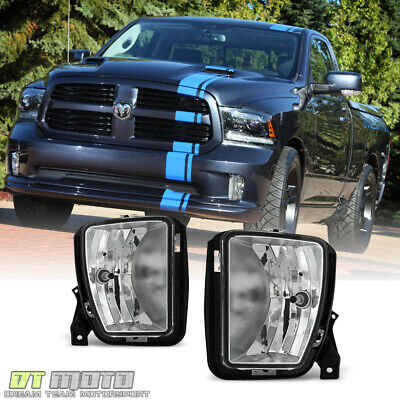 2013 2014 2015 2016 2017 2018 Dodge Ram 1500 Fog Lights Lamps w/Bulbs Left+Right