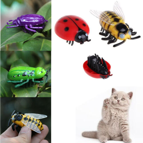 Cat Vivid Toys Teaser Interactive Pet Beetle Cicada Auto Electric Walking Insect