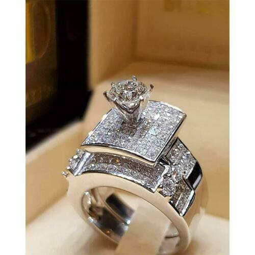 925 Sterling Silver Wedding Ring Set For Women