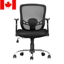 Moustache® Office Mesh Task Chair with Armrest, Mid-Back, Black,