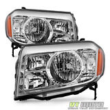 For 2009 2010 2011 Honda Pilot Headlights Headlamps Replacement 09-11 Left+Right