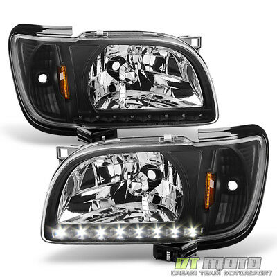 For 2001 2002 2003 2004 Toyota Tacoma Headlights w/LED Lights 2in1 Corner Signal