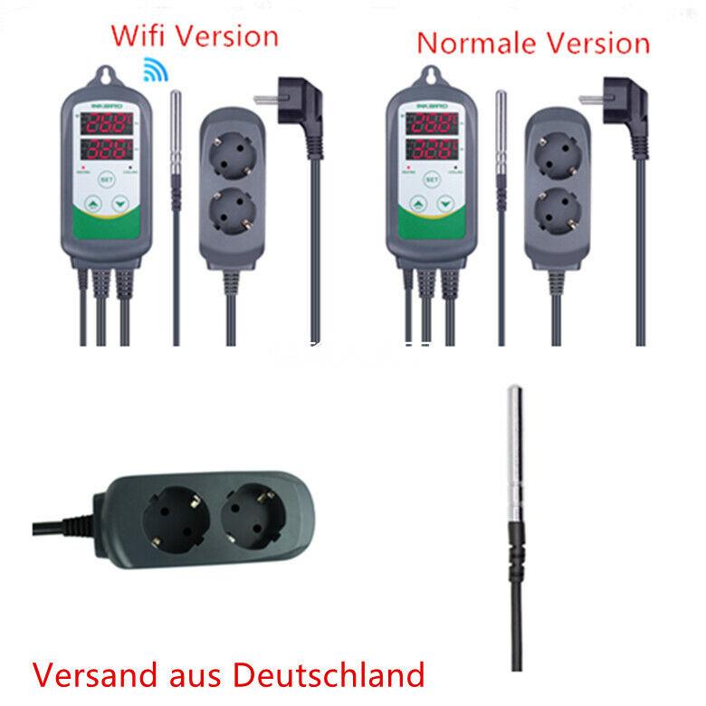 Inkbird ITC-308 Temperaturregler Heizen Kühlen Thermostat 230V Verdrahtet Brauen