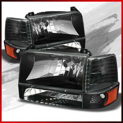 TIFFIN ALLEGRO BUS 2001 2002 2003 HEADLIGHTS SIGNAL LIGHT LAMPS 6 PC - BLACK