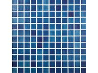Mosaic tiles, blue Fog Navy