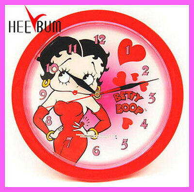 Betty Boop Round Wall Clock Decor Collector