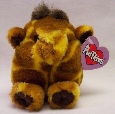 "Puffkins GINGER THE GIRAFFE 4"" Plush STUFFED ANIMAL Toy NEW"