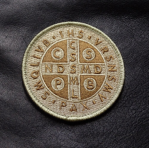SAINT BENEDICT CROSS CRUSADER CATHOLIC HOOK 3 INCH PATCH (SB04)