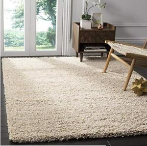 For Sale a Brand New...Safavieh California Premium Shag Collection Beige Area Rug..... 4 x 6