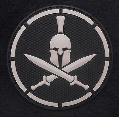 SPARTAN SWAT TACTICAL BADGE BLACK OPS COMBAT MORALE PVC MILITARY PATCH