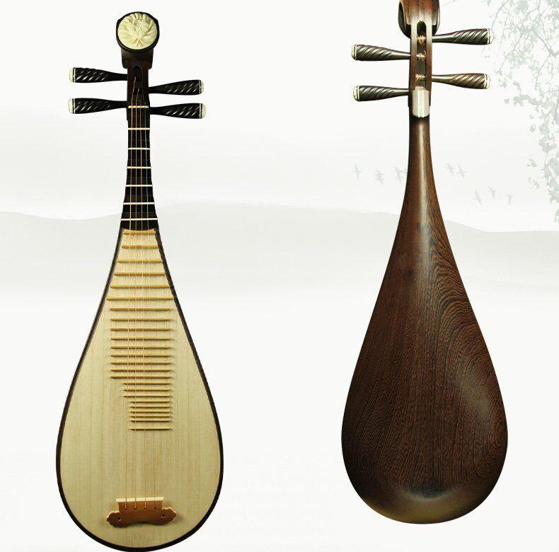 Liuqin - Chinese Soprano Pipa Lute Guitar Handmade Musical Instrument #4171