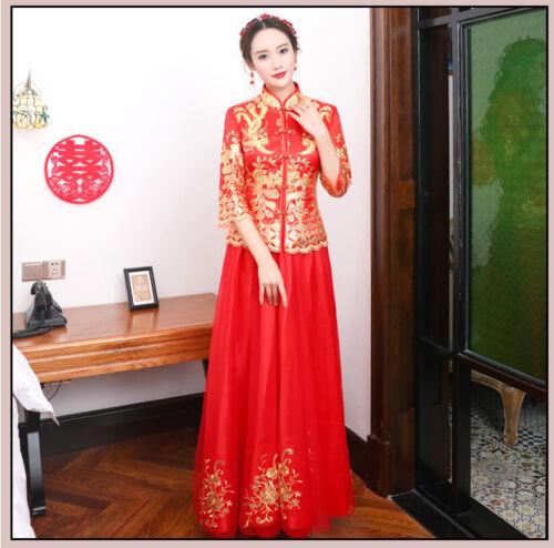 Chinese wedding dress QiPao Kwa cheongsam 38 elegant, many sizes available