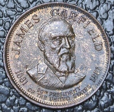 JAMES GARFIELD 1881 MEDAL - 20th President of the US -2nd President Assassinated