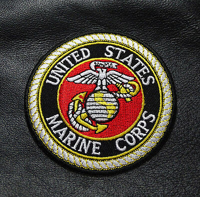 USMC MARINE EMBROIDERED   Military VELCRO PATCH