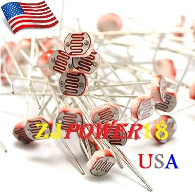 200pcs 5528 5mm 10k-20k Photoresistor Light-dependent Resistor Sensor Gl5528