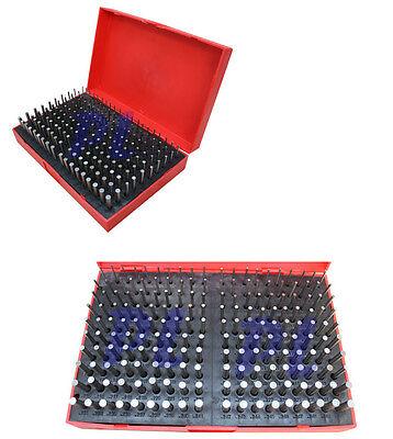 190 Pc M1 .061-.250 Steel Plug Pin Gage Set Minus Pin Gauges Metal Gage
